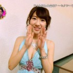 【エロGIF画像】AKB48柏木由紀ちゃんの胸チラ谷間おっぱいがムギュムギュwww小嶋菜月ちゃんのど爆乳の迫力がすごいTVキャプwwwww