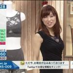 【QVCテレビショッピングエロ画像】永田佳代さんのおっぱいスケスケ谷間胸チラと脇マンコにパツパツパンツの着尻もがやらしすぎwwwww