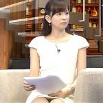 【女子アナエロ画像】週刊報道Bizストリートで皆藤愛子ちゃんの白パンストから黒パンチラ見えたw