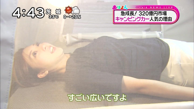 山岸舞彩アナの寝おっぱいと透けブラエロ画像015