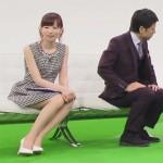 【皆藤愛子画像】ミニスカ▼ゾーンのパンチラは防ぐも太もものエッチな露出wwww