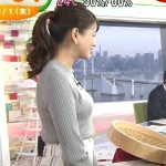 【永島優美画像】トンガリ着衣おっぱいがエロいめざましテレビで息子の目が覚めたwww