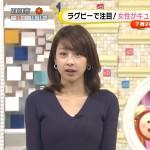 カトパンのVネックニットおっぱいの破壊力wwww加藤綾子アナエロ目線キャプ画像