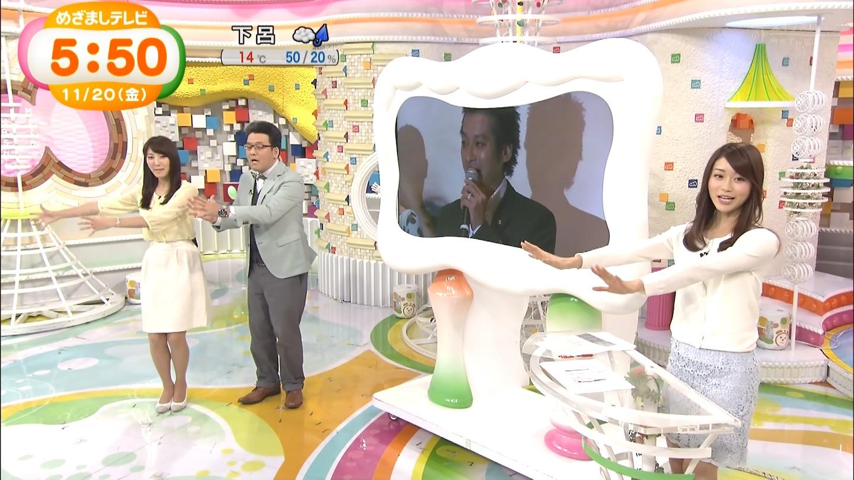 牧野結美アナと早川真理恵ちゃんのおっぱいエロキャプ画像11