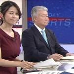 【GIF有】杉浦友紀アナのおっぱいがマジで洒落にならんほどデカかったサンデースポーツwwww