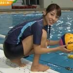【GIF有】岡副麻希アナのびしょ濡れ水球姿がなんかエロくて超かわいいwww