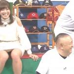 稲村亜美ちゃんのパンチラと生脚太ももがドスケベすぎてシコシコ捗るエロキャプ画像www