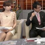 【レース柄】皆藤愛子ちゃんが困るほどにパンチラしすぎていた週刊報道 Biz Streetエロキャプ画像