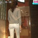 【ω】赤松悠実さんのお尻の食い込みがスゲーやらしい白ピタパンで関西の朝が騒然ww【す・またん!】