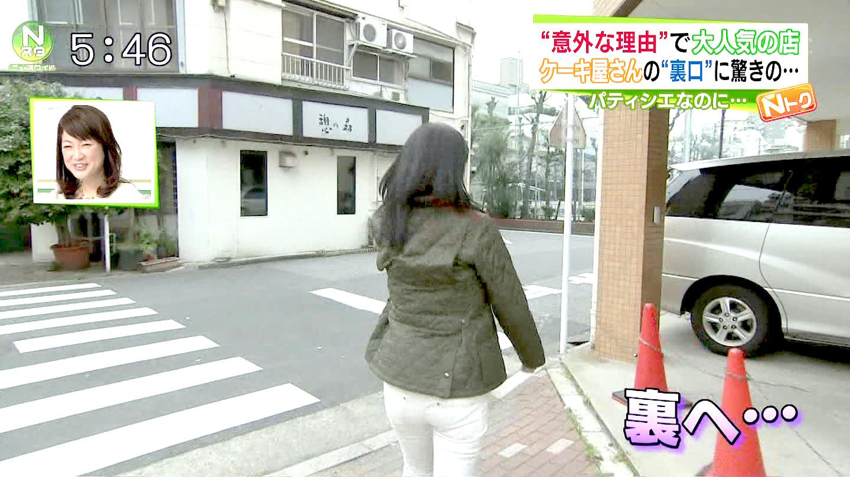 小倉弘子アナの白ピタパンお尻エロキャプ画像5