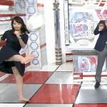 【GIF有】宇垣美里さんのスパッツなのがもどかしいスカートの中身丸見えと乳揺れおっぱいがエッチなスーパーサッカーw