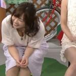 【GIF】中村葵さん、ええおっぱいの谷間が思いっきり見えるww関西深夜番組ピーチカフェエロキャプ