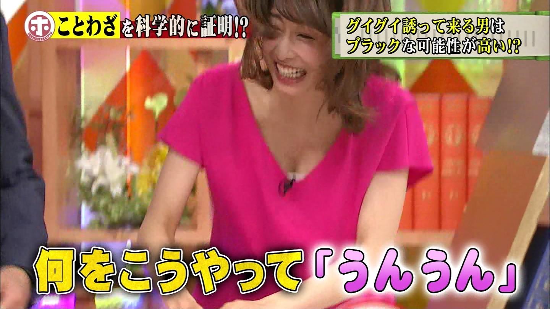 加藤綾子アナの胸チラおっぱいエロGIFキャプ画像22