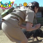 尾崎里紗アナのパン線くっきりお尻が朝から拝めたZIP!エロキャプ画像