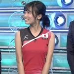 【小島瑠璃子】おっぱいばかり見ちゃうバレーユニフォーム姿wS1エロ目線キャプ画像