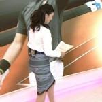 【女子アナ画像】森花子さんのパツパツタイトスカートのお尻wwwツルンとした丸みがエッチなおはよう日本キャプ