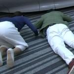 斉藤雪乃さんのパン線くっきり四つん這いお尻wwwBS-NHK京都鉄道博物館特番エロキャプ画像