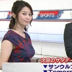 杉浦友紀さんのすぎょいおっぱいにしか目が行かなかったサタデースポーツエロキャプ画像