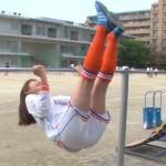 【GIF有】久冨慶子さんのお尻wwwサッカーユニのツルツルおケツをみせたやべっちFCキャプ画像