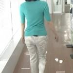 【女子アナ画像】中村慶子さんのピタパンお尻wちょっとパン線が見えるやらしい後ろ姿www