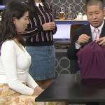 【GIF有】橋本マナミさんのおっぱいデカすぎwニットの着衣巨乳がエッチな志村の時間エロキャプ画像