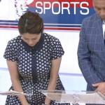 【GIF有】昨日のサンデースポーツの杉浦友紀さんのおっぱいwなんちゅうデカさwwww