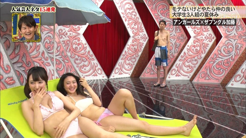 テレビに映った水着ギャル10