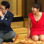 須黒清華さんのムチっとしたおっぱいの谷間とタイトスカートパツパツのお尻wwww