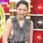 美おっぱいコンテスト優勝・中岡龍子さんの横乳はみ出しwすごい格好でテレビでたなwww