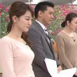 新井恵理那さんの横乳www位置の高い着衣巨乳おっぱいエッロwww