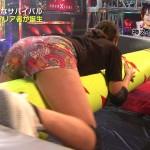 稲村亜美さんの太ももとお尻wショートパンツの隙間からほんのちょっとパンチラしてるKUNOICHI
