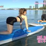 小嶋陽菜さんのお尻とおっぱいが超やらしいw水着で四つん這いはパンチ力があるコジハルタビエロ目線キャプ画像