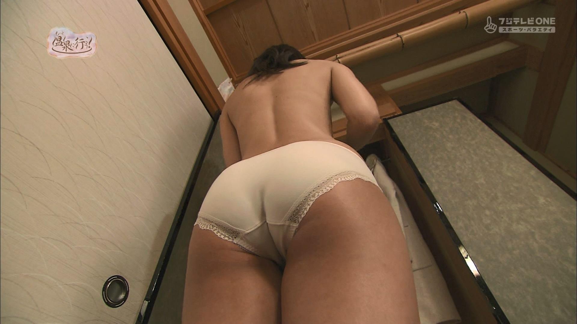 (アダルト写真)柚木しおりプリップリのおヒップと背中からのくびれのラインがsexな「もっと混浴宿に行こう☆☆☆」えろガン見キャプ写真