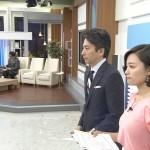 おっぱいの膨らみがとっても気になる女性アナウンサー・阿部優貴子さんの深層NEWSエロ目線キャプ画像