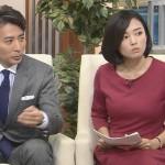 阿部優貴子さんのパツンパツンなおっぱいばかりを見つめてしまった深層NEWSエロ目線キャプ画像