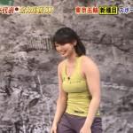 着衣おっぱいやお尻が気になる大場美和さんと野口啓代さんの炎の体育会TVエロ目線キャプ画像