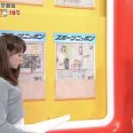新井恵理那さんの横からツンツンおっぱいw中々の盛り方がやらしいグッド!モーニングエロ目線キャプ画像