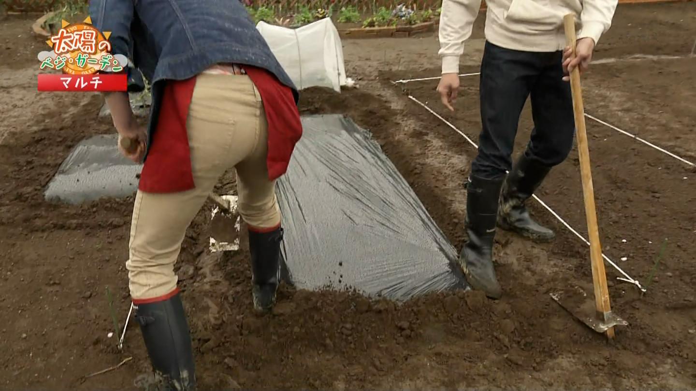 (ハプニング写真)長沢裕さんの農作業をする色っぽいな後ろ姿☆お尻プリプリ畑耕しな趣味の園芸やさいの時刻