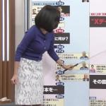 阿部優貴子さんのおっぱいw真面目なニュースでもお乳に目線を奪われる深層NEWSエロ目線キャプ画像