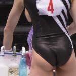 お尻と股間の引きが強すぎるレオタード姿ww女子体操の華麗な演技とエロさがたまらんwww