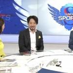 杉浦友紀さんのサンデースポーツパツパツ着衣巨乳w背中からおっぱいの頂点までの距離が遠いw