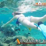 木寺莉菜さんの水着姿w水中のハミ尻ビキニがエッチな世界さまぁ~リゾートエロ目線キャプ画像
