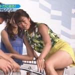 稲村亜美さんの太もも、これはフトモモw太い腿。たいへんエッチな下半身を魅せつけてた戦え!スポーツ内閣エロ目線キャプ画像