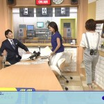 【GIF有】お尻のお肉のぷにぷに感がエッチな大成安代さんの後ろ姿wwwニュースチェック11の瞬間ラッキースケベw