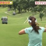 キム・ハヌルさんの透けブラや上田桃子さんのお尻などセクシー満載だったとんねるずのスポーツ王は俺だ!!ゴルフ対決エロ目線キャプ画像