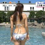 お尻のモチっとした重量感がすばらCww松元絵里花さんの最新水着紹介・めざましテレビエロ目線キャプ画像
