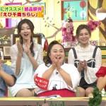 【GIF有】熊井友理奈さん、葉加瀬マイさんのパンチラやや着衣おっぱいやノースリーブブラチラなどテレビに写ったエロシーンまとめ。