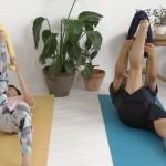 坂田梨香子さんのお尻とオマタが気になるセクシーストレッチw趣味どきっ! 体が硬い人のための 柔軟講座エロキャプ画像