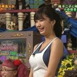 小倉優香さんのパインパインなおっぱいw服の上からでも形と張りの凄さが伝わる「踊る踊る!さんま御殿!!」エロ目線キャプ画像