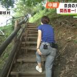 薄田ジュリアさんのお尻w階段を登る生々しい肉感が良い後ろ姿wみんなのニュース報道ランナーエロ目線キャプ画像